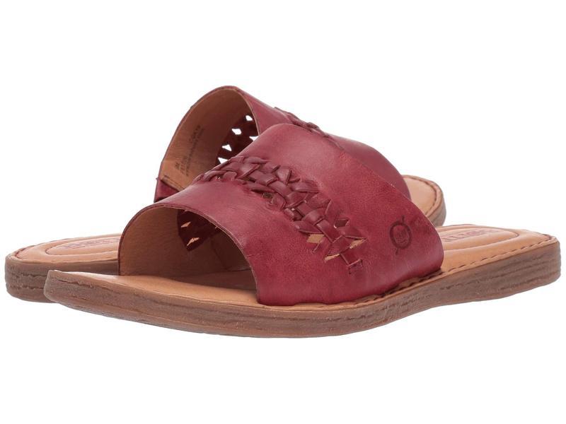 ボーン レディース サンダル シューズ St. Francis Red Full Grain Leather