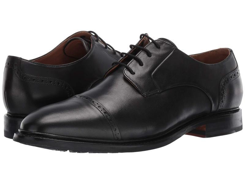 ボストニアン メンズ オックスフォード シューズ Bridgeport Cap Black Leather