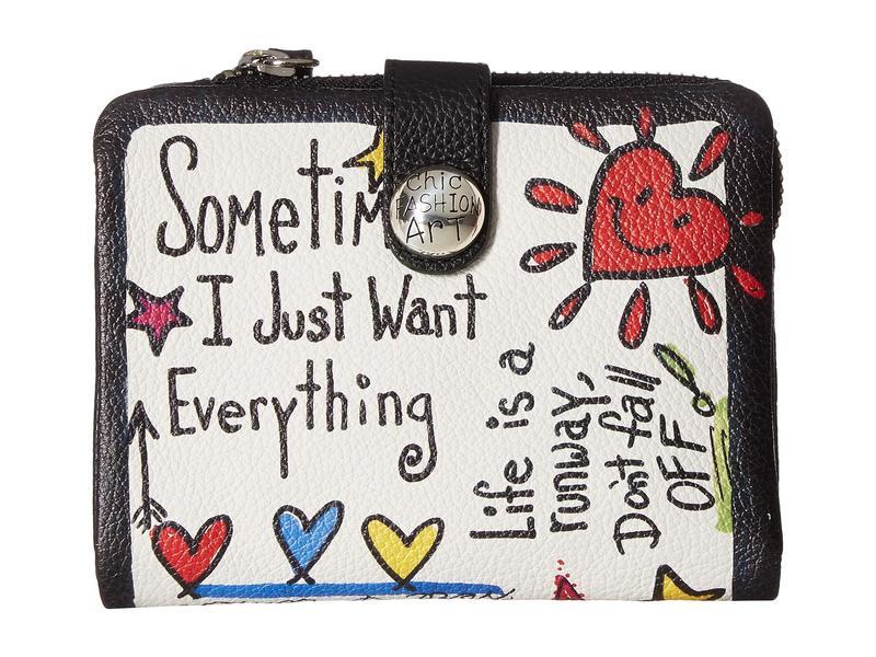 ブライトン レディース 財布 アクセサリー Fashionista Love Scribble Medium Wallet Multi