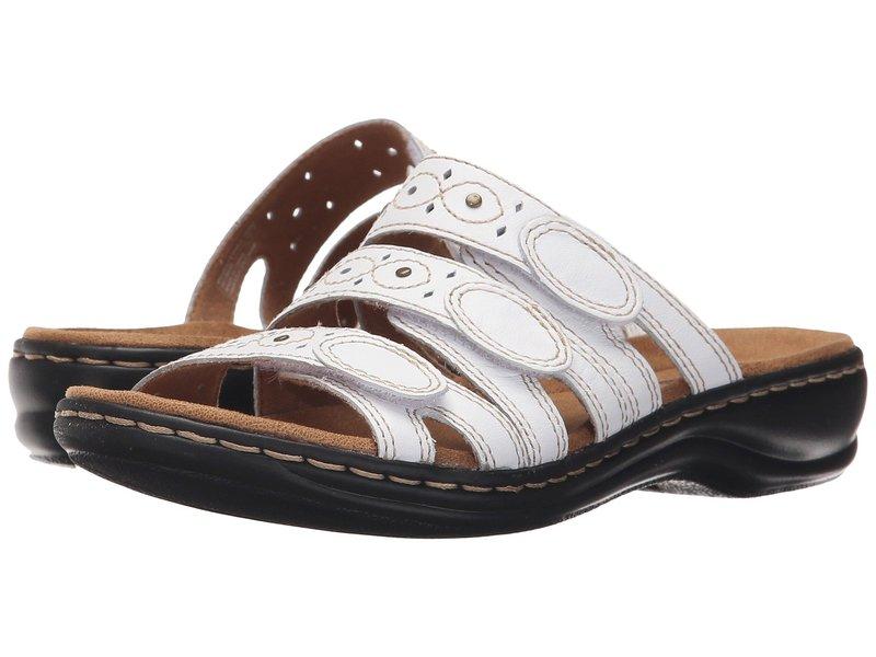 クラークス レディース サンダル シューズ Leisa Cacti Q White Leather