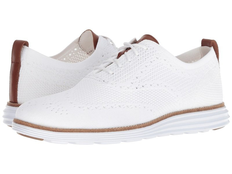 コールハーン メンズ オックスフォード シューズ Original Grand Stitchlite Wingtip Oxford Optic White/White