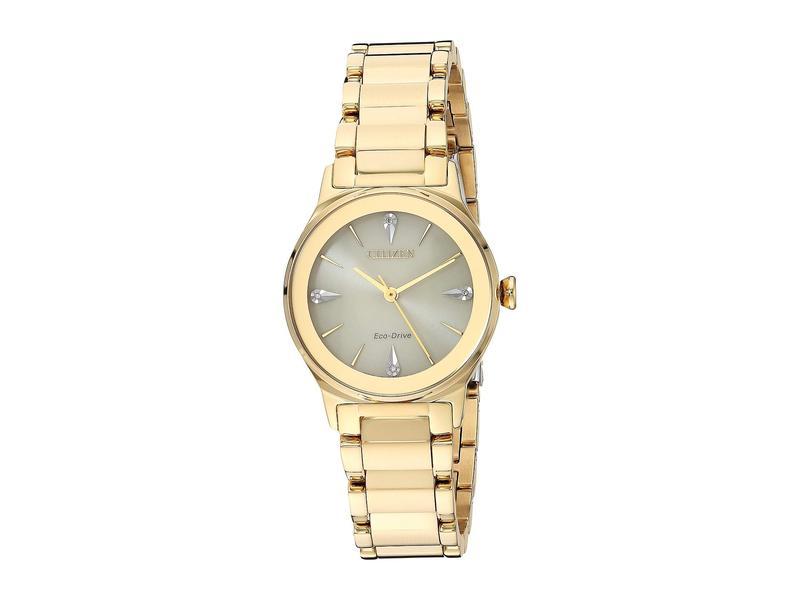 シチズンウォッチ レディース 腕時計 アクセサリー EM0732-51P Axiom Gold Tone