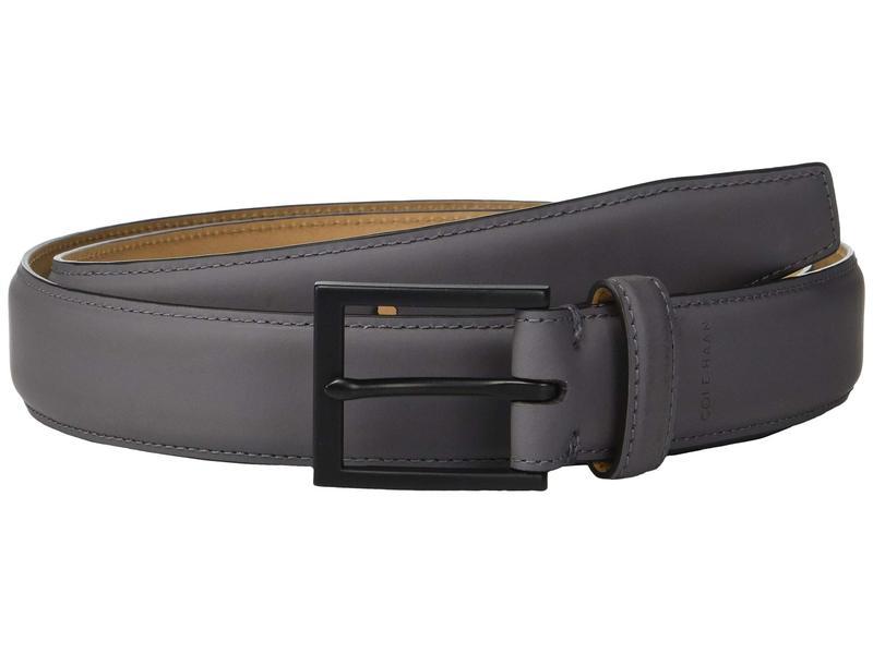 コールハーン メンズ ベルト アクセサリー 32 mm Rubberized Leather Belt Grey