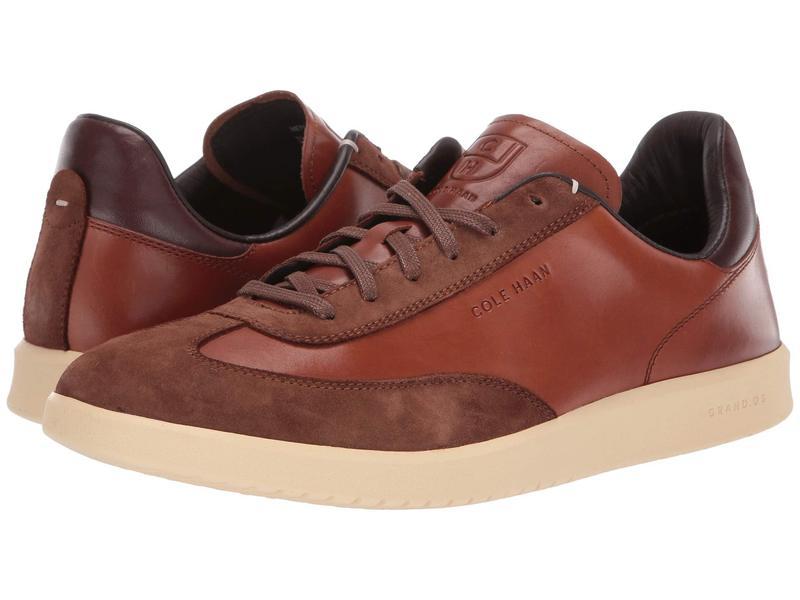 コールハーン メンズ スニーカー シューズ Grandpro Turf Sneaker British Tan Tumbled/British Tan Suede