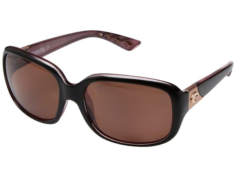 コスタ レディース サングラス・アイウェア アクセサリー Gannet Shiny Black Hibiscus Frame/Copper 580P