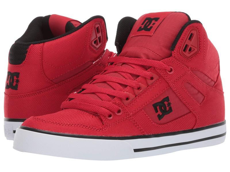 ディーシー メンズ スニーカー シューズ Pure High-Top WC TX SE Red