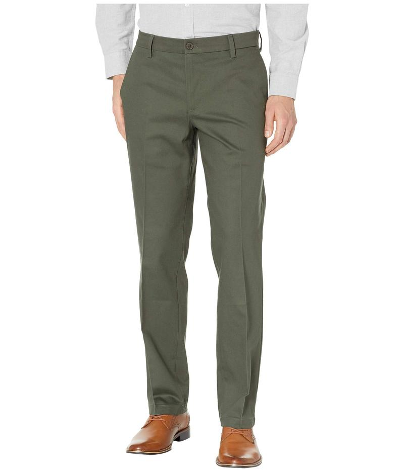 ドッカーズ メンズ カジュアルパンツ ボトムス Straight Fit Signature Khaki Lux Cotton Stretch Pants D2 - Creased Olive Grove