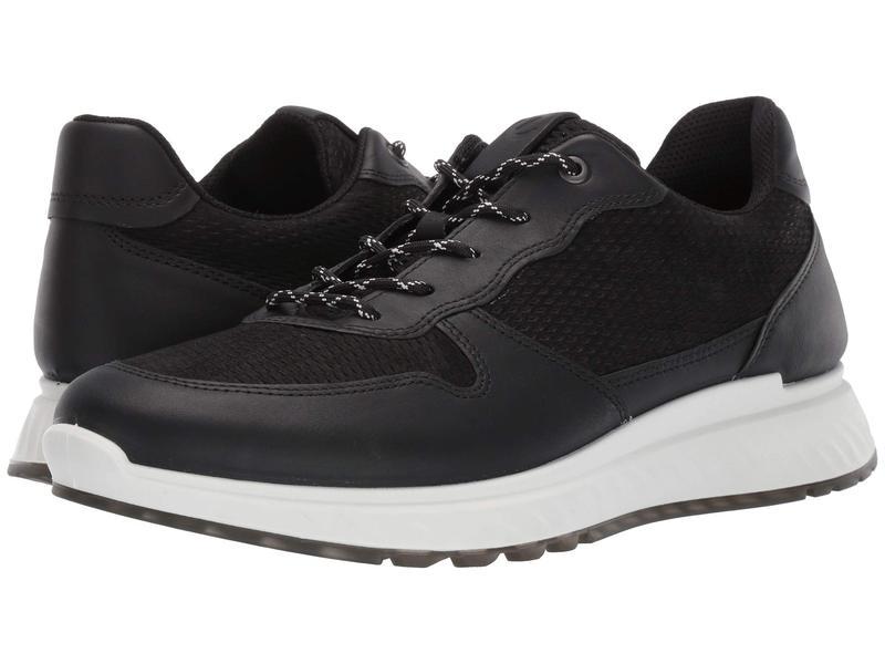エコー メンズ スニーカー シューズ ST1 Perforated Sneaker Black/Black