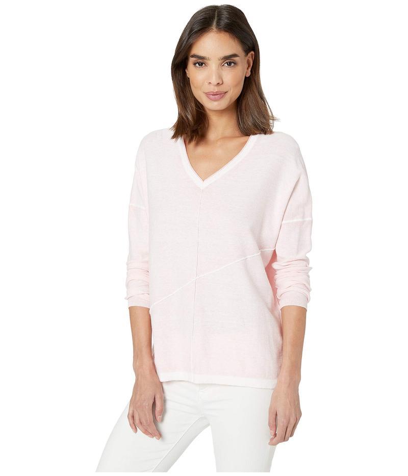 エリオットローレン レディース ニット・セーター アウター Luminosity Cotton Sweater with Exposed Seam Detail Rose