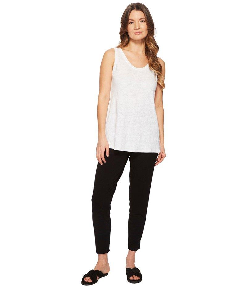 エイリーンフィッシャー レディース カジュアルパンツ ボトムス Petite Viscose Jersey Slim Ankle Slouchy Pants Black