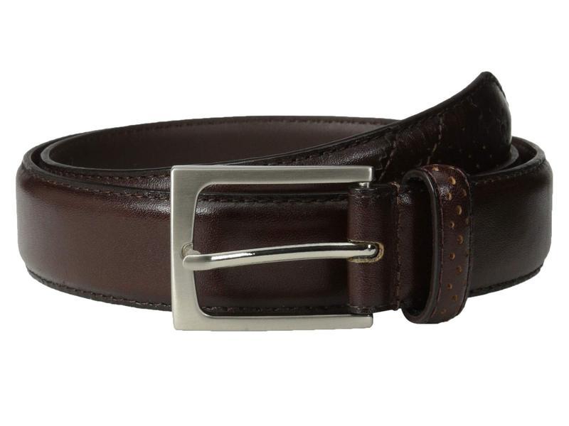 フローシャイム メンズ ベルト アクセサリー Full Grain Leather Belt with Wing Tip Style Tail 32mm Brown