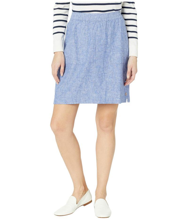 ハットレイ レディース スカート ボトムス Jamie Cotton Linen Skirt Chambray Blue