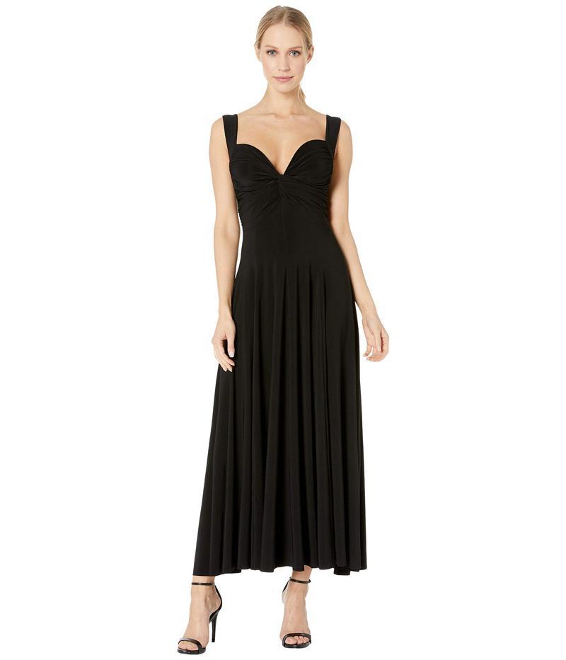 カマリカルチャー レディース ワンピース トップス Sleeveless Flared Twist Midcalf Dress Black