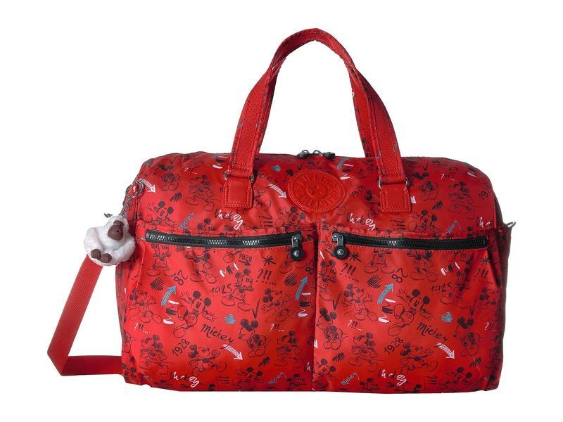 キプリング レディース ボストンバッグ バッグ Disney Mickey Mouse Itska Duffel Sketch Red