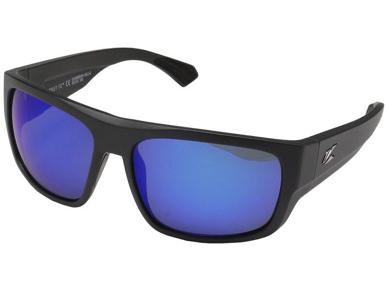 カエノン メンズ サングラス・アイウェア アクセサリー Burnet FC Matte Black/Ultra Pacific Blue Mirror