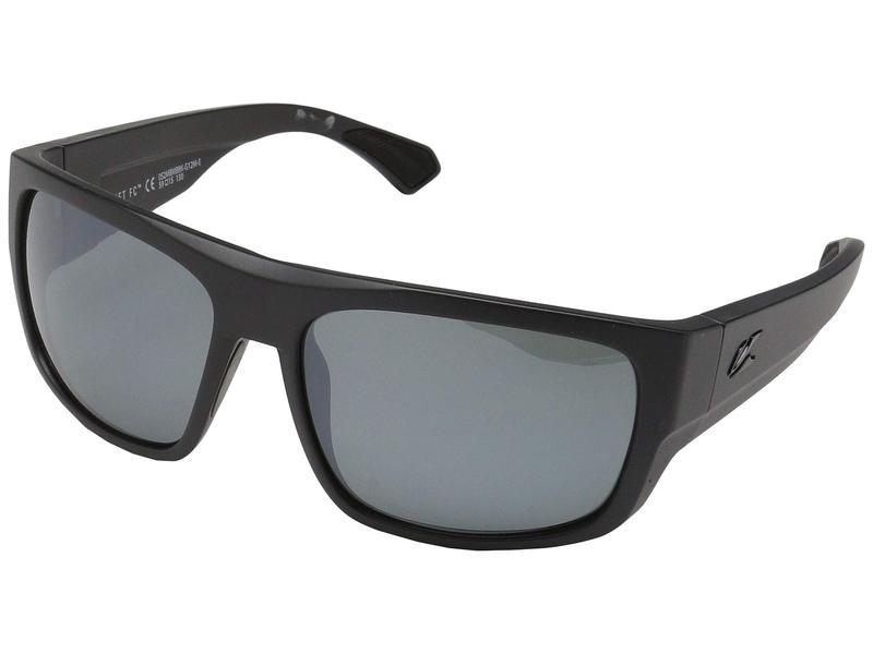 カエノン メンズ サングラス・アイウェア アクセサリー Burnet FC Matte Black/Grey 12 Black Mirror