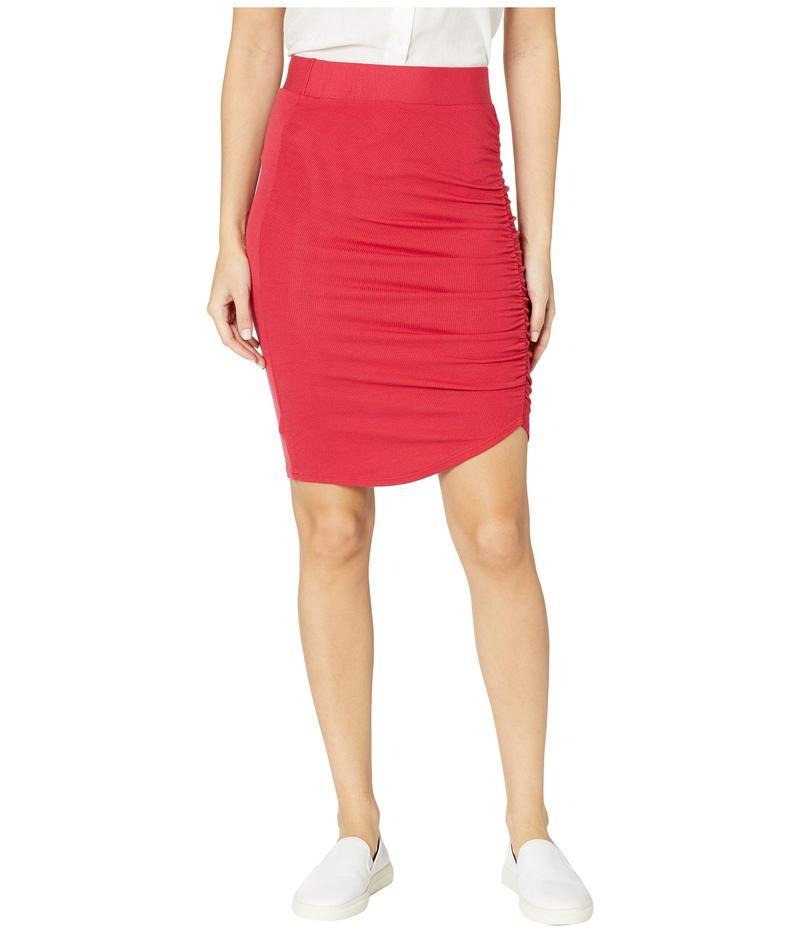 ラメイド レディース スカート ボトムス Ariel 2X1 Modal Stretch Rib Gathered Skirt American Beauty