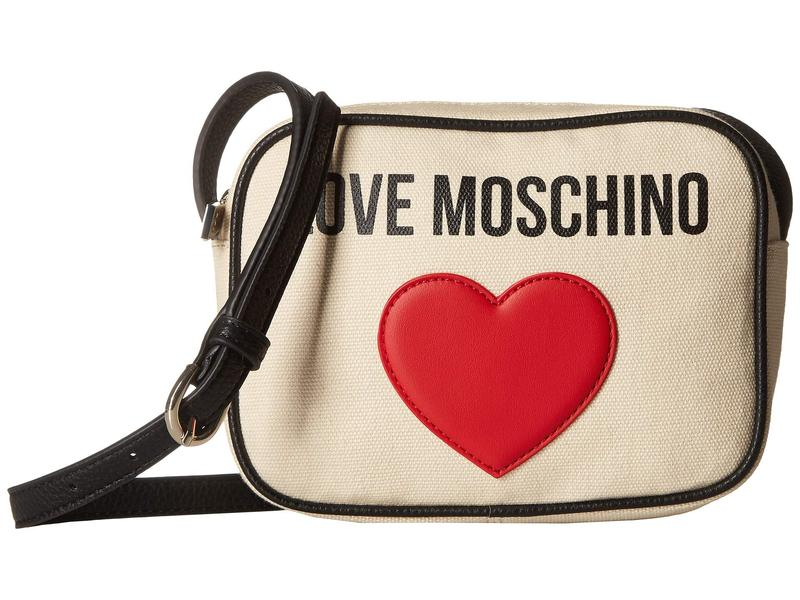 ラブ モスキーノ レディース ハンドバッグ バッグ Canvas Camera Bag Ivory