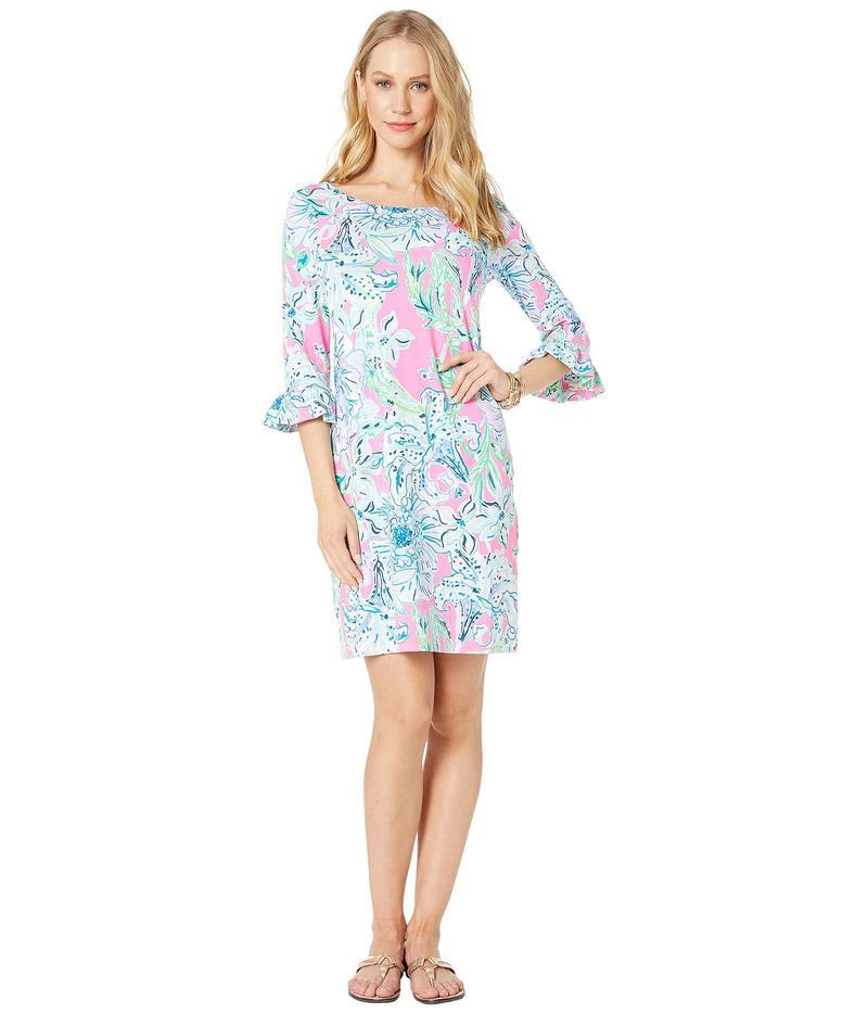 リリーピュリッツァー レディース ワンピース トップス UPF 50+ Sophie Ruffle Dress Pink Tropics in The Groove