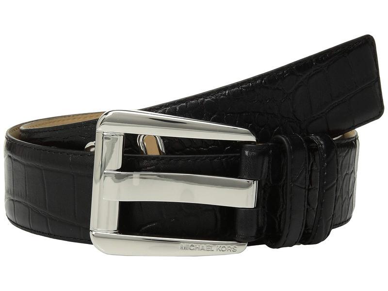 マイケルコース レディース ベルト アクセサリー 42 mm Croco Belt Black