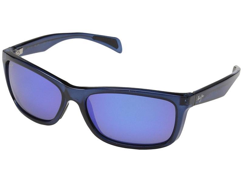 マウイジム メンズ サングラス・アイウェア アクセサリー Puhi Translucent Navy Blue/Blue Hawaii