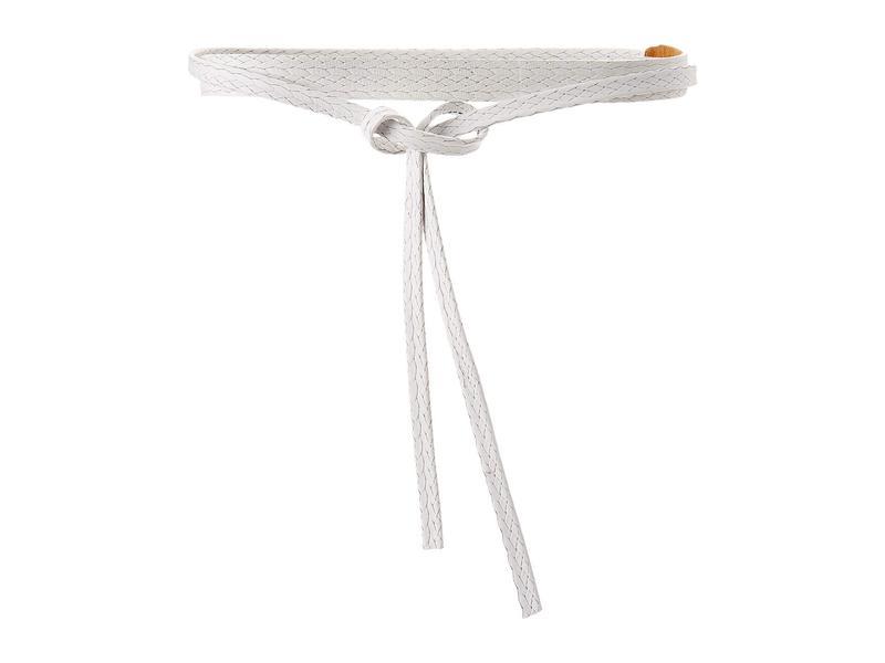 アダ レディース ベルト アクセサリー Skinny Wrap Belt White Ostrich