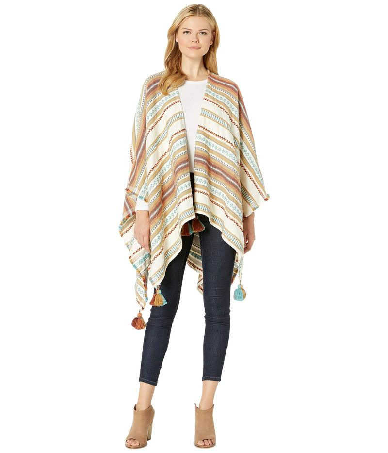 ペンドルトン レディース シャツ トップス Paloma Stripe Wrap Brown Stripe