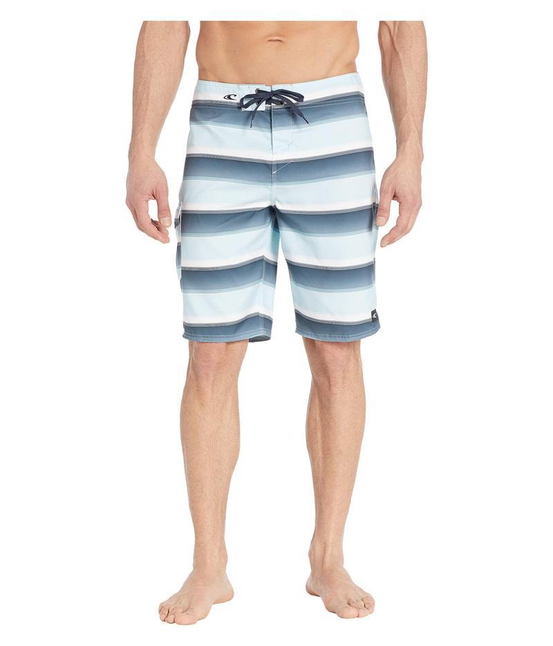 オニール メンズ ハーフパンツ・ショーツ 水着 Santa Cruz Stripe Boardshorts Air Blue