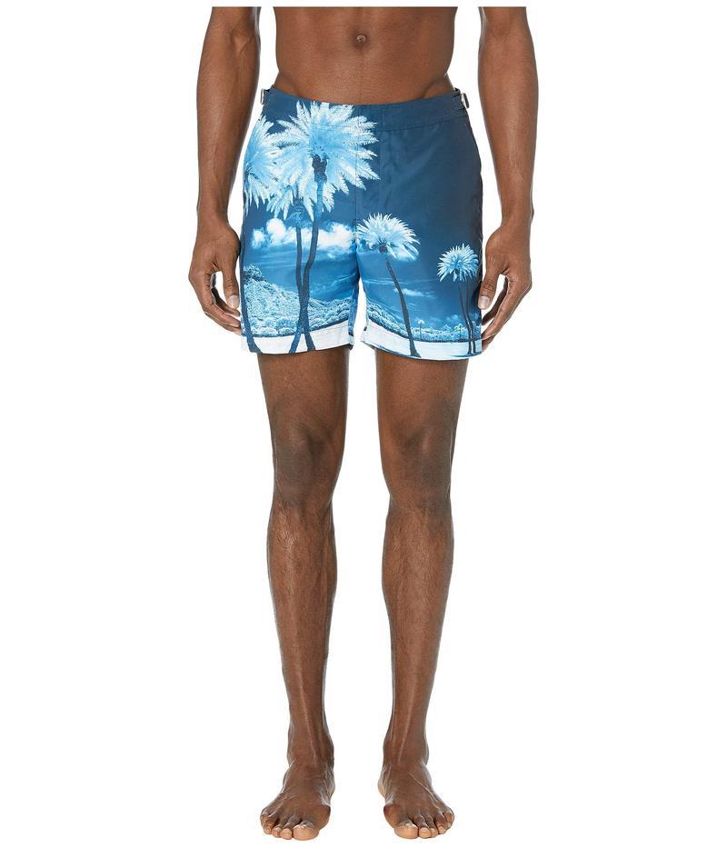 オールバー ブラウン メンズ ハーフパンツ・ショーツ 水着 Bulldog Photographic Swim Trunk Blue Palms