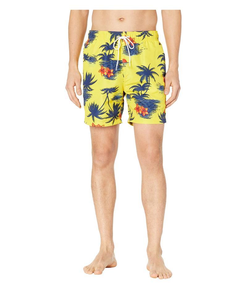 ナウティカ メンズ ハーフパンツ・ショーツ 水着 Hawaiian Palm Print Swim Trunks Zest