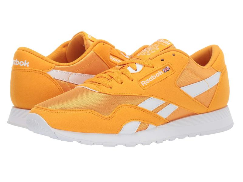 Reebok Classic Nylon Sneaker Trek Gold//White 3 M US