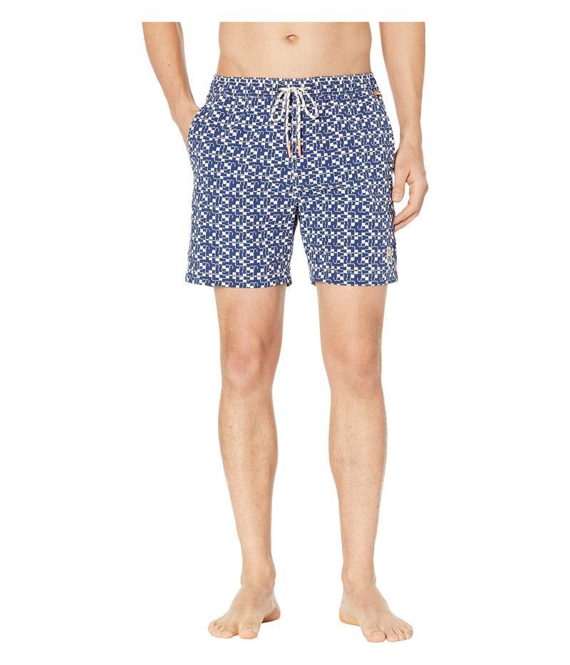 サイコバニー メンズ ハーフパンツ・ショーツ 水着 Swim Trunks Blue Print