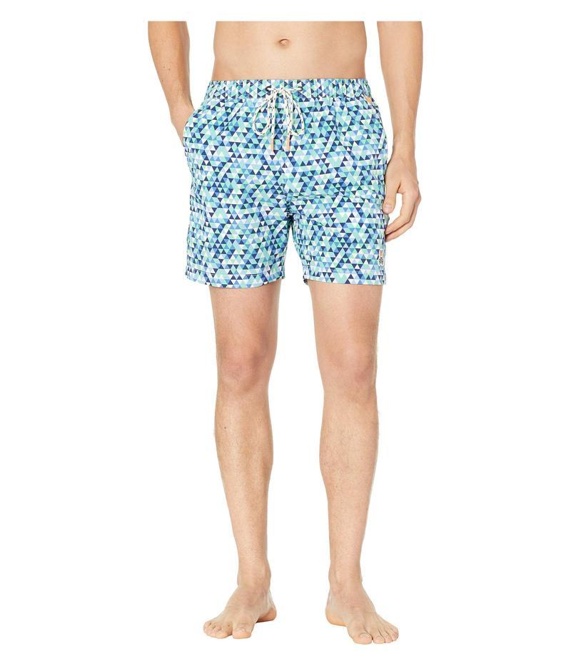 サイコバニー メンズ ハーフパンツ・ショーツ 水着 Geo-Triangle Swim Trunks Blue Print