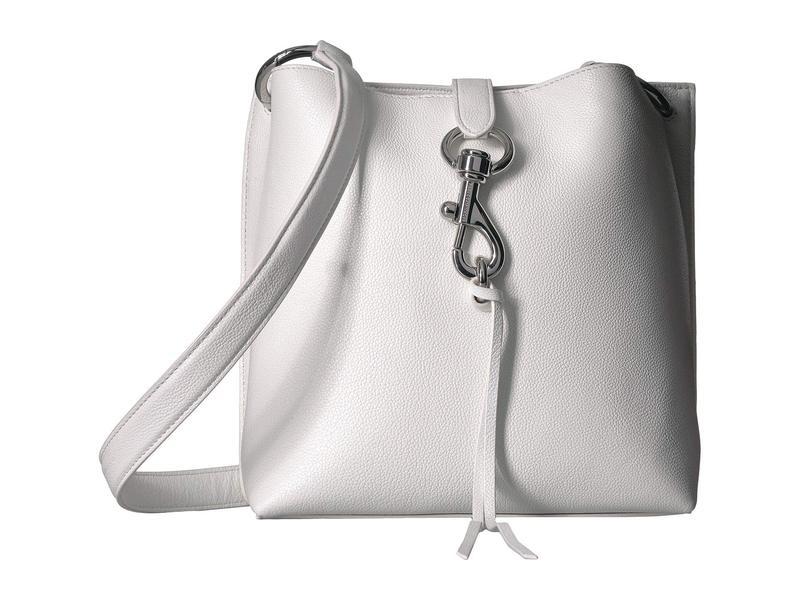 レベッカミンコフ レディース ハンドバッグ バッグ Megan Small Feed Bag Optic White