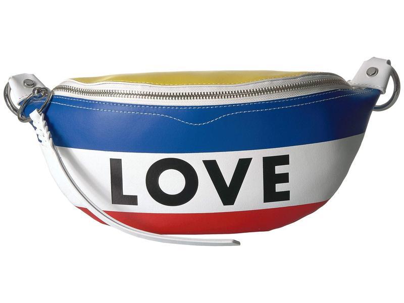 レベッカミンコフ レディース ボディバッグ・ウエストポーチ バッグ Belt Bag Love Stripe Rainbow