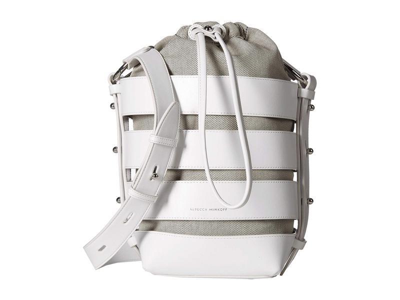 レベッカミンコフ レディース ハンドバッグ バッグ Cage Convertible Bucket Optic White