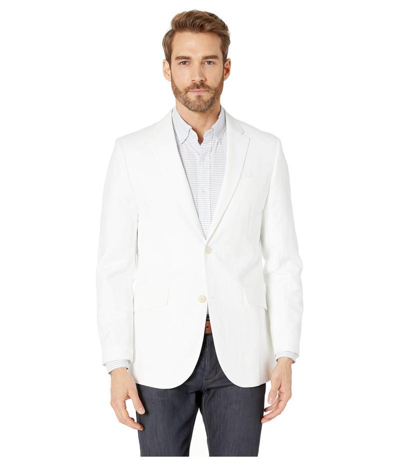 ペリーエリス メンズ コート アウター Slim Fit End on End Linen Jacket Bright White