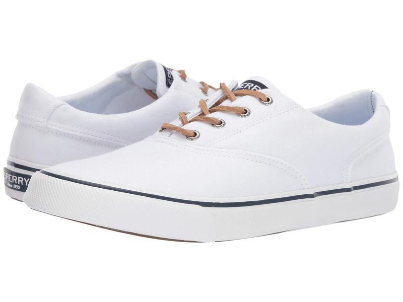 スペリー メンズ スニーカー シューズ Striper II CVO Oxford Shirt White