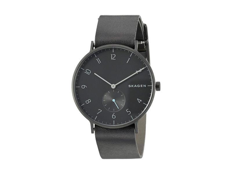 スカーゲン メンズ 腕時計 アクセサリー Aaren Reversible Strap - SKW6480 Black