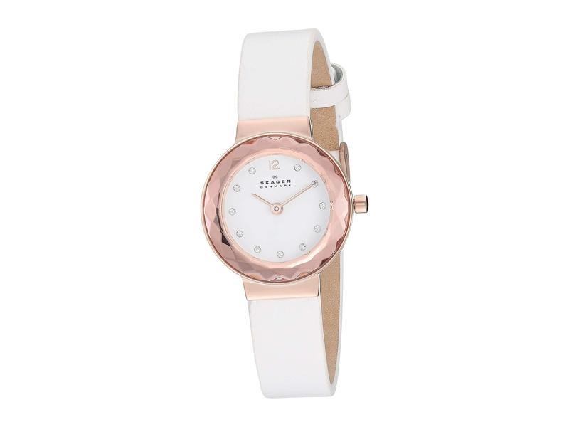 スカーゲン レディース 腕時計 アクセサリー Leonora Faceted Crystal - SKW2769 White