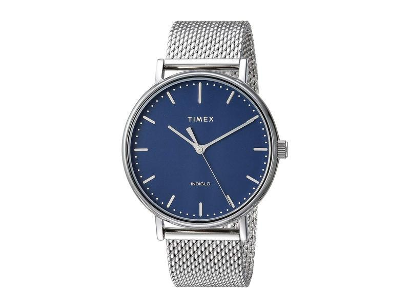 タイメックス メンズ 腕時計 アクセサリー 41 mm Fairfield Stainless Steel Blue/Silver