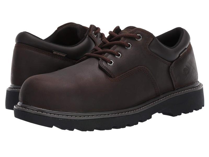 ウルヴァリン メンズ オックスフォード シューズ Floorhand Oxford Steel Toe WP Brown
