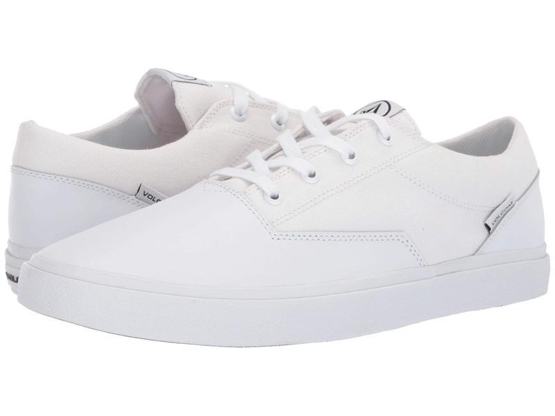 ボルコム メンズ スニーカー シューズ Draw Lo Suede Shoes White Flash