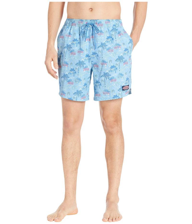 ヴァインヤードヴァインズ メンズ ハーフパンツ・ショーツ 水着 Beach Huts Chappy Swim Trunks Cornflower