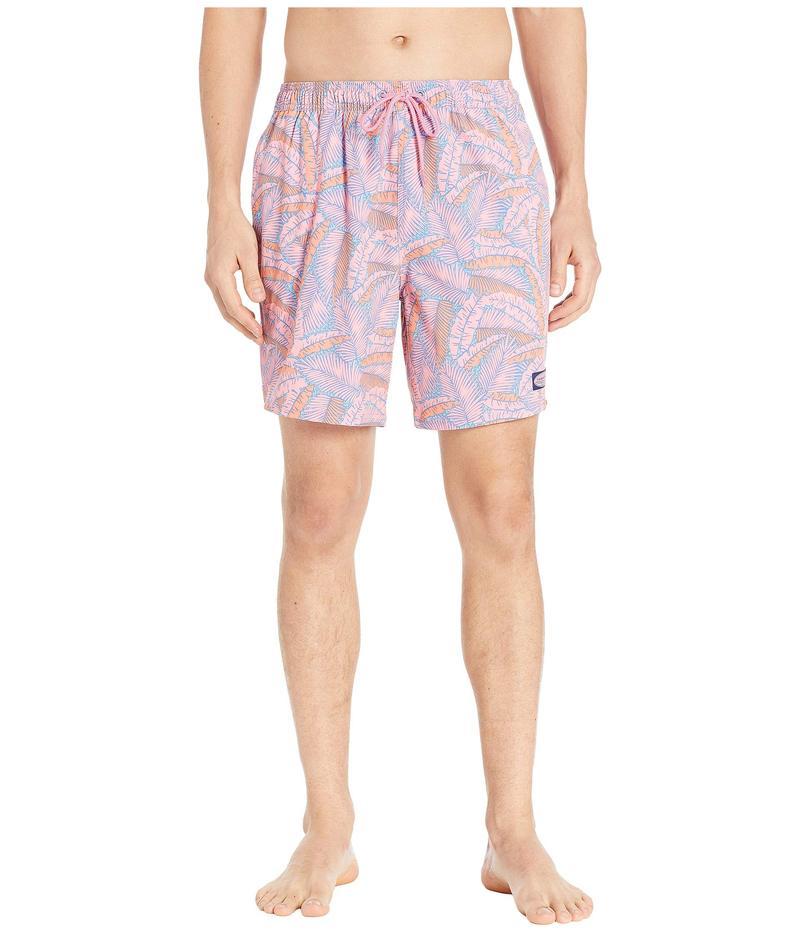 ヴァインヤードヴァインズ メンズ ハーフパンツ・ショーツ 水着 Island Palms Chappy Swim Trunks Washed Neon Pink