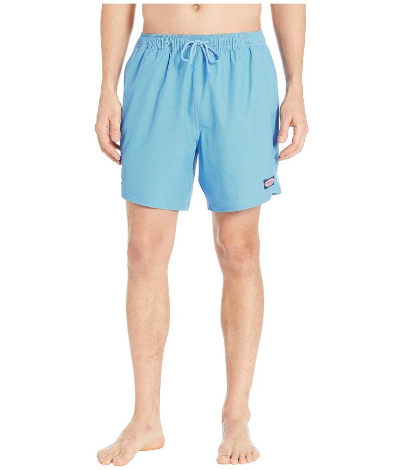 ヴァインヤードヴァインズ メンズ ハーフパンツ・ショーツ 水着 Fine Line Stripe Chappy Swim Shorts Hull Blue