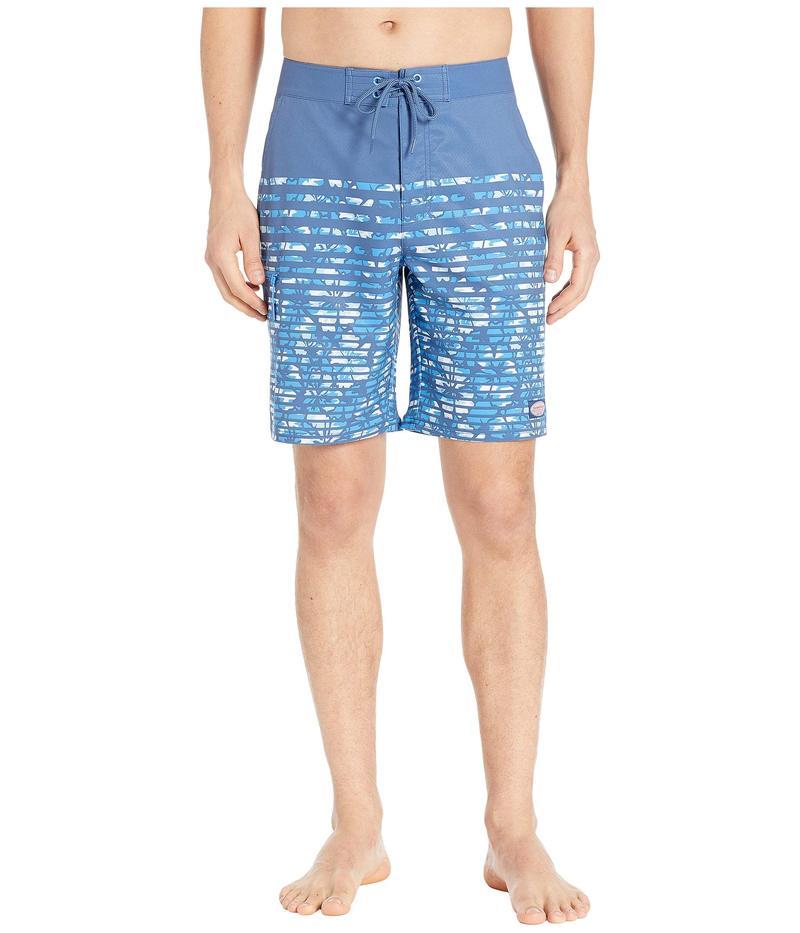 ヴァインヤードヴァインズ メンズ ハーフパンツ・ショーツ 水着 Floral Camo Stripe Stretch Boardshorts Moonshine