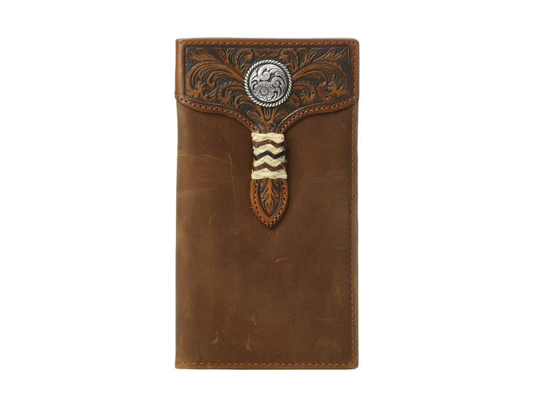 アリアト メンズ 財布 アクセサリー Rawhide Wrap Overlay w/ Concho Rodeo Wallet Medium Brown