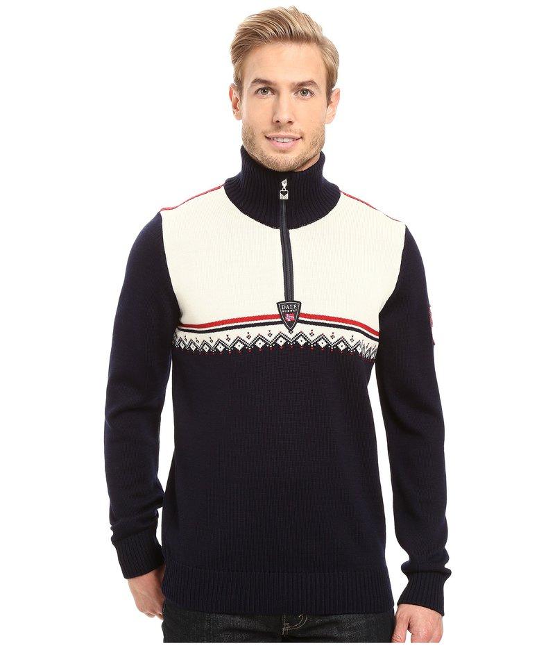 ダールオブノルウェイ メンズ ニット・セーター アウター Lahti Sweater Navy/Raspberry