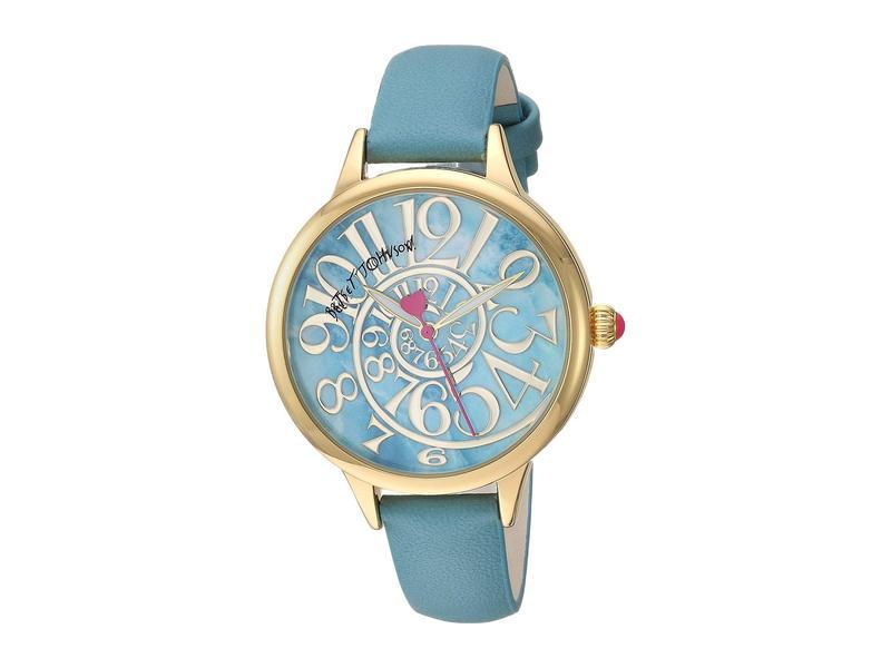 ベッツィジョンソン レディース 腕時計 アクセサリー Optical Swirl Marble Dial & Strap Watch Blue/Gold